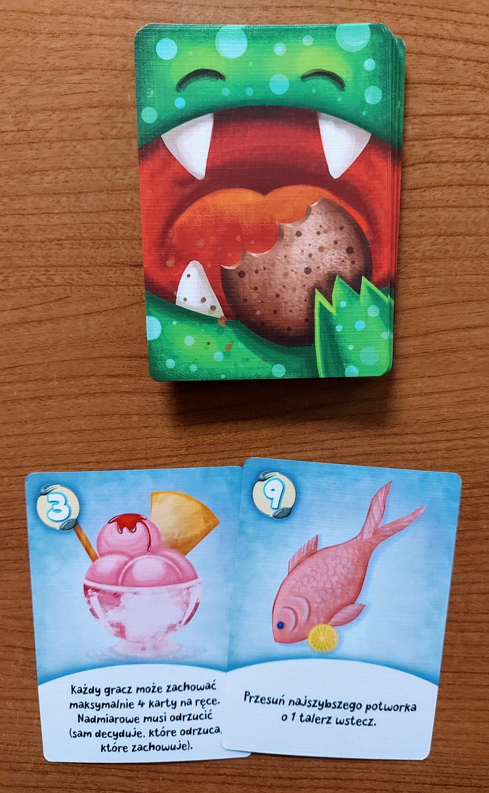 Potworek - karty jedzenia