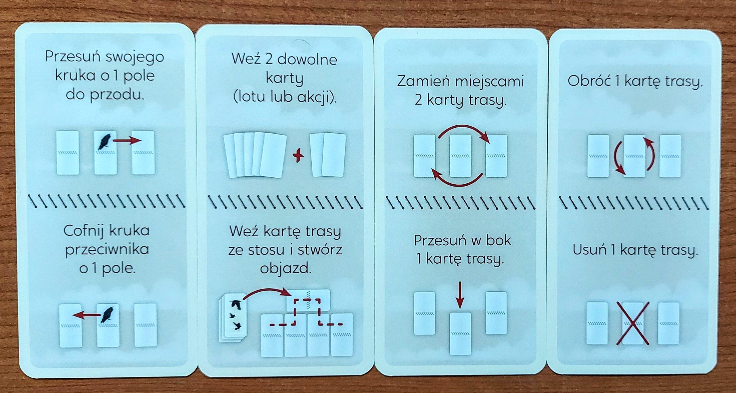Kruki - karty akcji