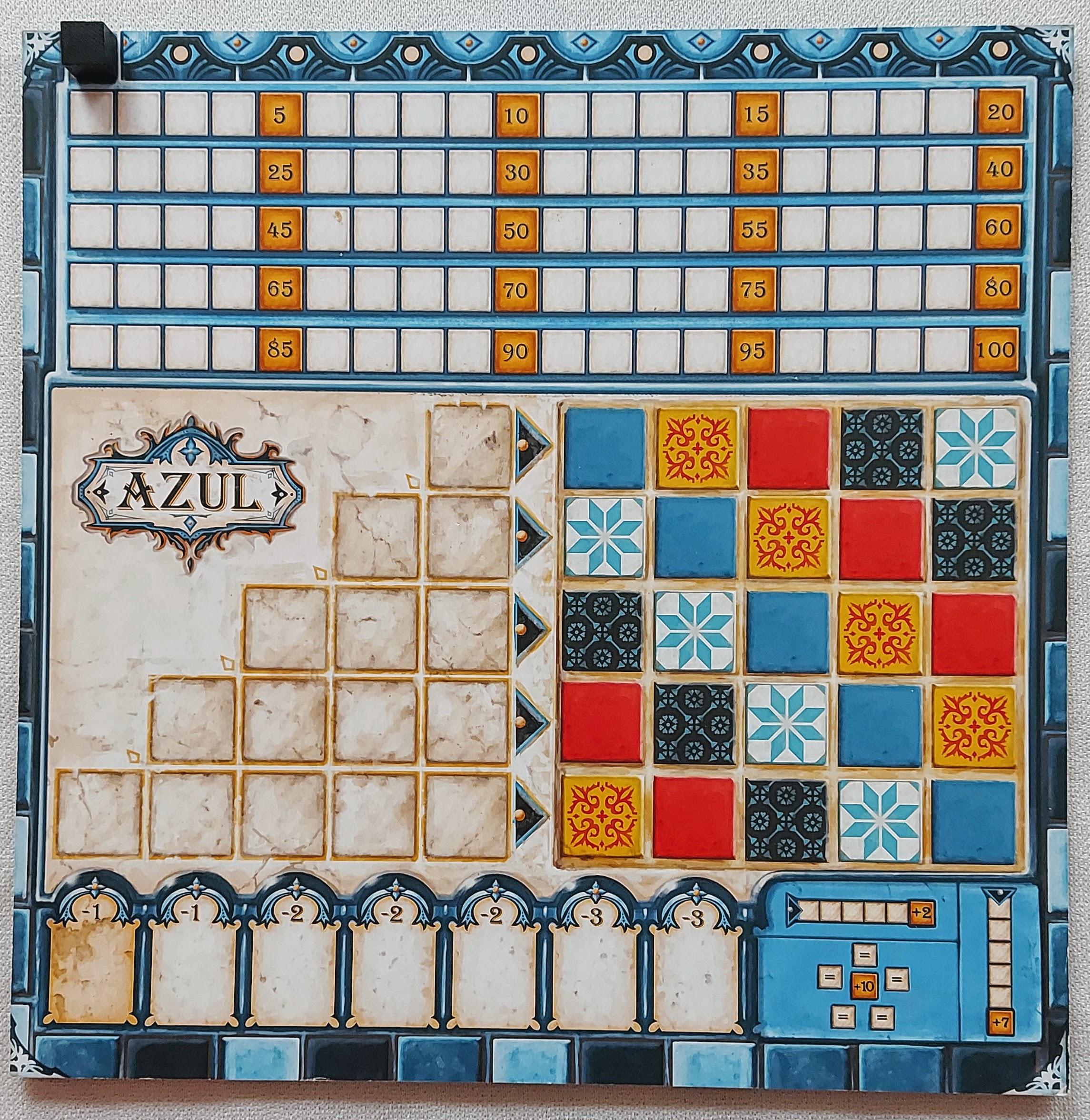 Azul - planszetka gracza